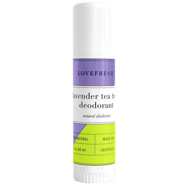 LOVEFRESH Lavender Tea Tree Natural Cream Deodorant Travel Stick