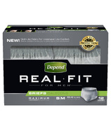 Depend Real Fit For Men Briefs Maximum Absorbency