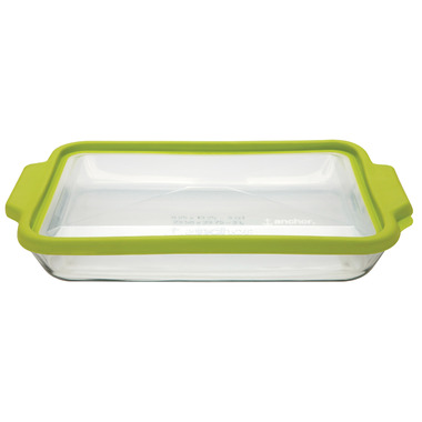 Anchor 3 Quart Baking Dish with TrueFit Lid Green