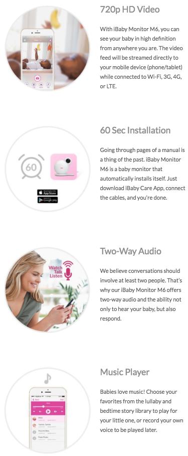 Buy Ibaby M6 720p Hd Wi Fi Wireless Digital Video Camera Monitor