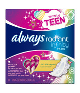 Always Radiant Infinity Teen Pads with Wings