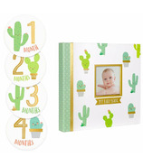 Pearhead Baby's Memory Book and Sticket Set Cactus