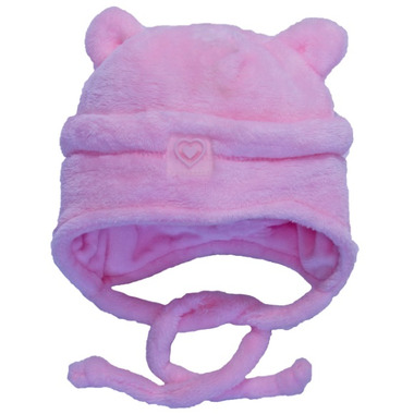 Calikids Plush Bear Hat Pink