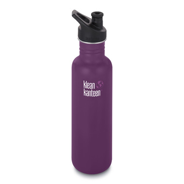 Klean Kanteen Classic Bottle with Sport Cap 3.0 Winter Plum