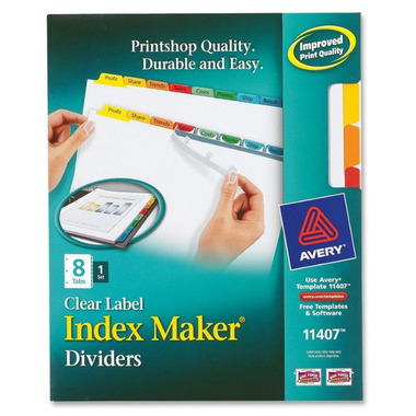 Avery Index Maker White Divider with Color Tabs