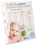 Cuddledry Kind to Baby Supersoft Bamboo Towelling Washcloths