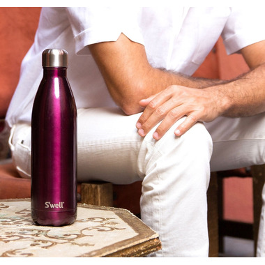 S\'well Glitter Collection Stainless Steel Water Bottle Sangria