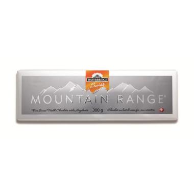 Waterbridge Swiss Mountain Range Milk Chocolate Hazelnut Bar