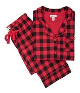 Little Blue House Buffalo Plaid Women's Cotton Jersey Pajama Set