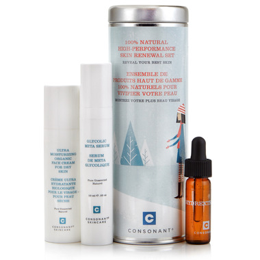 Consonant Skincare 100% Natural Skin Renewal Set