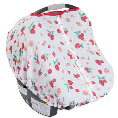Little Unicorn Muslin Car Seat Canopy Strawberry