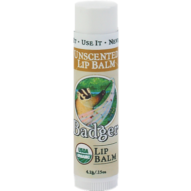 Badger Unscented Lip Balm
