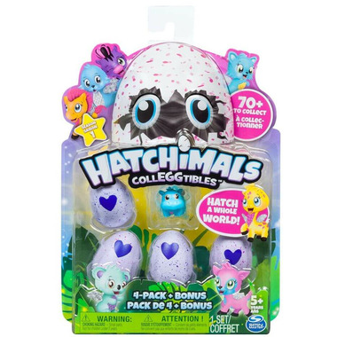 Hatchimals CollEGGtibles 4 Pack + Bonus Hatchimal