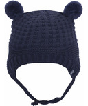 Calikids 100% Cotton Knit Hat with Ears Evening Navy