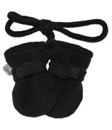 Calikids No Thumb Mitts with String Black