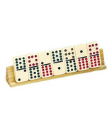 2 Piece Wooden Domino Tile Holder