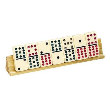 2 Piece Wooden Domino Tile Holder