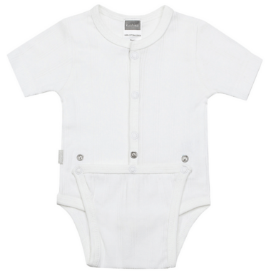 Kushies Diaper Shirt White