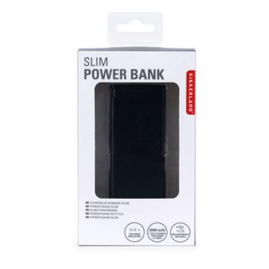 Kikkerland Black Slim Power Bank