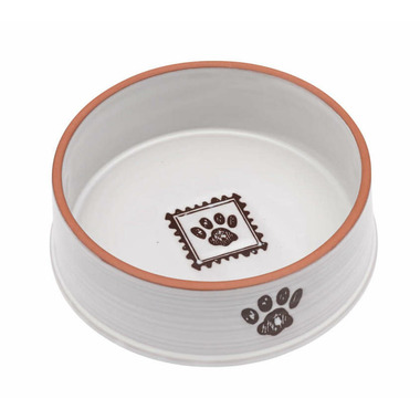 Ore Pet Handcraft Paw Small Ceramic Bowl