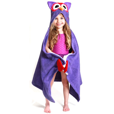 Zoocchini Toddler Hooded Towel Olive The Owl
