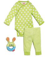 Skip Hop Pop Prints 3-Piece Baby Set Lime