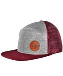 L&P Apparel Orleans Snapback Hat Burgundy & Grey