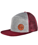 L&P Apparel Orleans Snapback Hat Burgundy & Grey