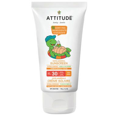 ATTITUDE Little Ones 100% Mineral Sunscreen Vanilla Blossom