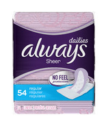 Always Sheer Dailies Liners Regular