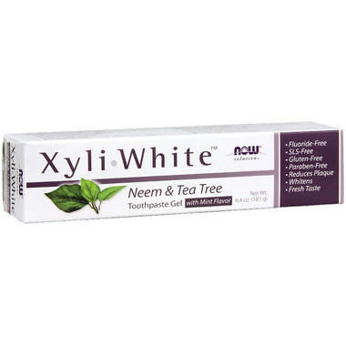 NOW Solutions Xyliwhite Neem & Tea Tree Toothpaste Gel