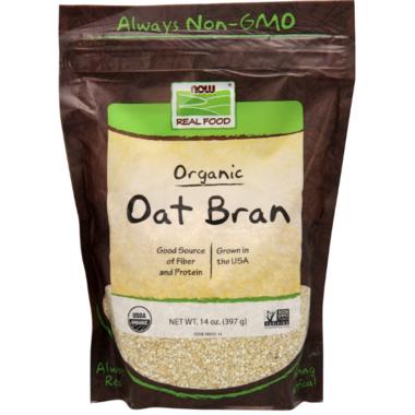 NOW Real Food Organic Oat Bran