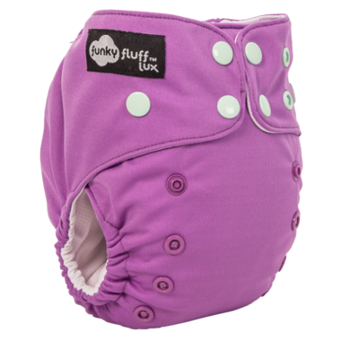 Funky Fluff Athletic Wicking Jersey Diaper I Like to Mauve it