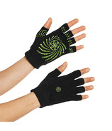 Gaiam Grippy Yoga Gloves Black & Green