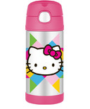 Thermos Stainless Steel Vacuum Insulated Straw Bottle Hello Kitty