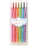 International Arrivals Fine Line Colored Gel Pens