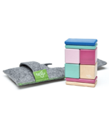Tegu Original Pocket Pouch Magnetic Wooden Block Set - Blossom