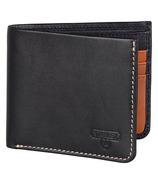 Stanley Bi Fold Leather Wallet Black & Tan