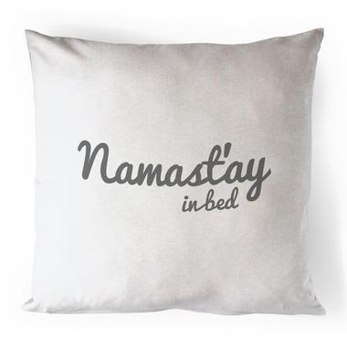 Printing Life Canada Namast\'ay In Bed Canvas Pillow