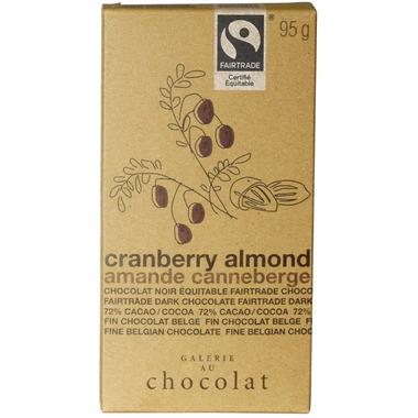 Galerie au Chocolat Cranberry Almond Chocolate Bar