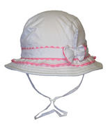 Calikids Quick-Dry Bucket Hat With Adjustable Crown White