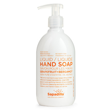 Sapadilla Grapefruit + Bergamot Liquid Hand Soap