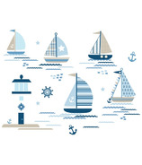 WallPops Ships Ahoy Large Wall Art Kit