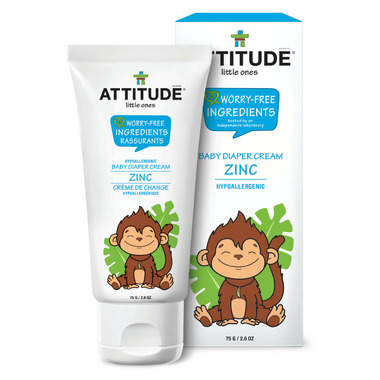 ATTITUDE Natural Baby Diaper Cream with Zinc