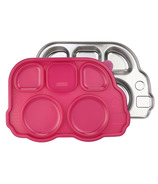 Innobaby Din Smart Stainless Platter with Pink Lid