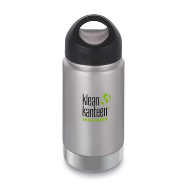 Klean Kanteen Insulated Wide Bottle with Wide Loop Cap Brushed Stainless