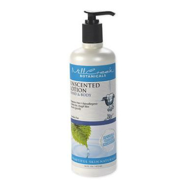 Mill Creek Botanicals Unscented Body & Hand Lotion