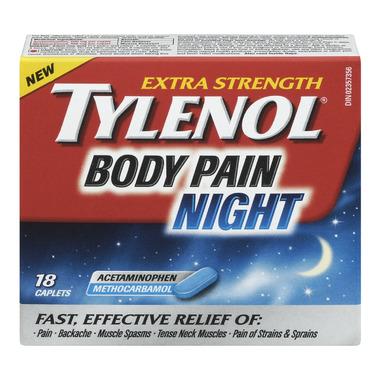 Tylenol Body Pain Extra Strength Night Caplets