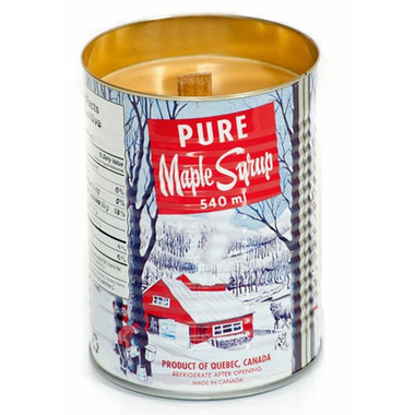 Seracon Maple Syrup Tin Candle with a Wooden Wick