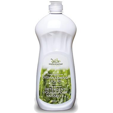 Green Cricket Dishwashing Liquid Fragrance Free